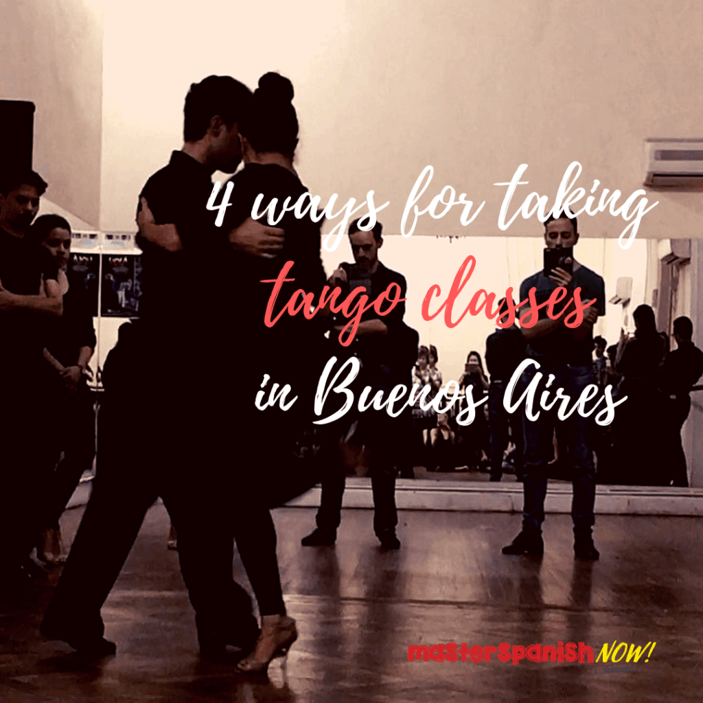 Taking tango class in Buenos Aires