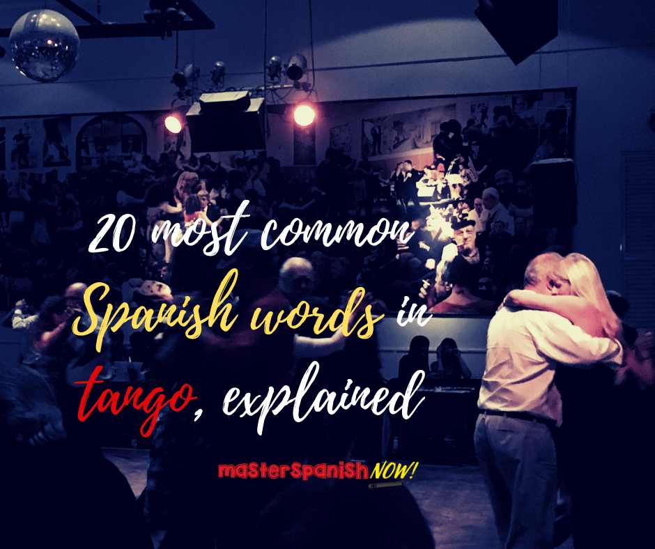 Spanish words Tango